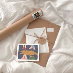 Art packaging envelopes and tube Cream Aesthetic, Brown Aesthetic, Aesthetic Style, Pen Pal Letters, Aesthetic Pictures, Packaging Design, Stationery, Branding, Gift Wrapping