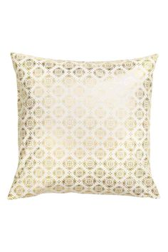Patterned cushion cover: Cushion cover in a cotton weave with a shimmering print and concealed zip.