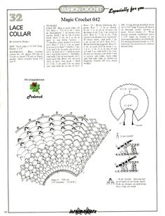 Diagram for blue crochet collar