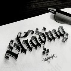 Lettering with Parallelpen-Brushpen&Pencil.As allways, I tried to create anamorphic typography and lettering with calligraphy tools and pencil. Thanks and regards,Tolga GİRGİN Hand Drawn Lettering, Graffiti Lettering, Lettering Styles, Typography Letters, Lettering Design, Gothic Lettering, Script Lettering, Writing Art, Writing Styles