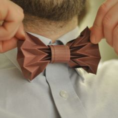 where techy meets pretty, a bowtie made entirely out of paper!