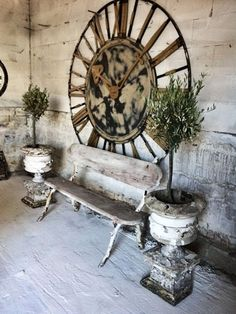 Simple Everyday Glamour: Monday Inspiration... Love that huge rusted clock!