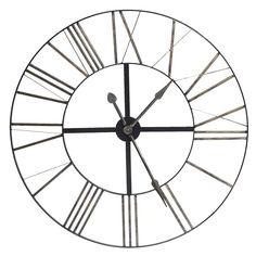 Industrial Distressed Metal Clock
