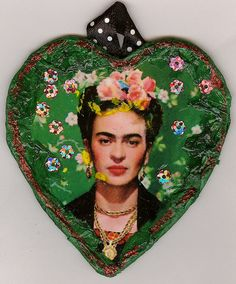FRIDA KAHLO TREE ORNAMENT by tiaragoth