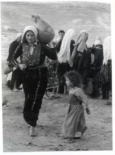 Woman & Child fleeing Palestine during the Nakba | Community Post: 31 Unbelievable Photographs Israel Doesn't Want You To See!