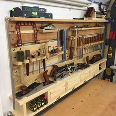 Some early morning drawer clean up & fitting & the tool wall is finished & ready for work tomorrow #toolstorage #toolwall #woodworking #woodworkersofinstagram #woodwork #backtothegrindstone