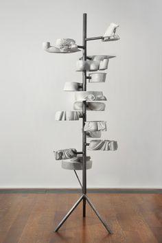 Dissect — Nick van Woert, 2012  Fiberglass statue, urethane, garbage  240 x 91.4 cm / 94 1/2 x 36 x 36 in