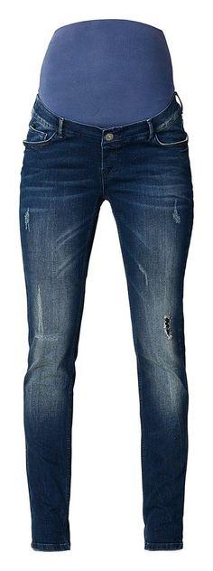 NOPPIES Slim Umstandsjeans »Mila« für 79,99€. Umstandsjeans Mila von Noppies, Slim Fit, Trendige Vintage-Optik, Verstellbarer Bund und Jersey-Bauchband bei OTTO