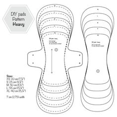 Heavy Flow Menstrual Cloth Pads PDF Sewing Pattern - Menstrual cloth pads are the environmental friendly alternative to store bought pads. Made with sof - Pdf Sewing Patterns, Clothing Patterns, Sewing Hacks, Sewing Projects, Sewing Tips, Reusable Menstrual Pads, Reuseable Pads, Feminine Pads, Period Pads