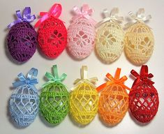 Art Deco Crochet Eggs Patterns - Crochet That! Free Art Deco Easter Crochet Eggs Patterns Learn the Crochet Easter, Easter Crochet Patterns, Holiday Crochet, Crochet Bunny, Crochet Flowers, Crochet Art, Egg Crafts, Yarn Crafts, Easter Crafts