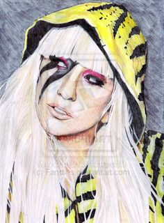 Lady Gaga by Fandias on deviantART ~ artist Andias Rakhman ~ colored pencils