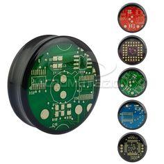 Elektro Plug, Piercing , Espansione lobo orecchio in PMMA con circuito stampato e doppio bordo svasato. Artigianale Made in Italy di Micromutazioni su Etsy