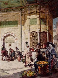 Street Merchant in Istanbul, 1883 by Hippolyte Berteaux