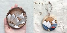 Woman quits job to make whimsical paintings on recycled wood