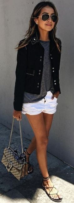 #summer #musthave #trends | Black + Grey + White