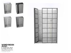 - Caesium Bathroom - Shower Found in TSR Category 'Sims 4 Showers & Tubs'