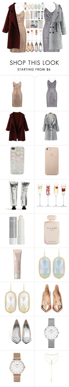 """Party with my bestie"" by dayliant ❤ liked on Polyvore featuring Badgley Mischka, WithChic, With Love From CA, LSA International, Korres, Elie Saab, Laura Mercier, Kendra Scott, Gianvito Rossi and Stuart Weitzman"