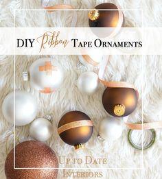 DIY Ribbon Tape Ornaments