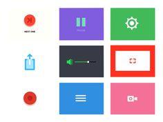 Animated Icons / Principle Freebie by Magic Chen #Design Popular #Dribbble #shots