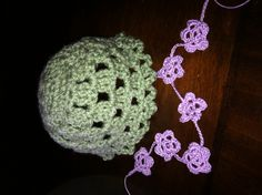 Hat with flower chain to go around the edge.