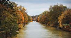 Erie Canal, Autumn – Brockport NY – Photo by Matt Deturck, courtesy of City Newspaper