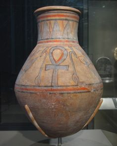 Jar with Was-scepters and Ankhs New Kingdom, Dynasty 18, reign of Amunhotep II - Thutmose IV