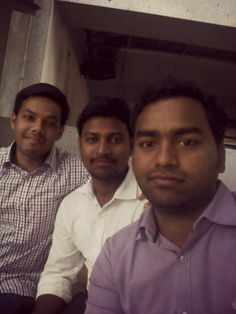From Left - Me, Gopi and Siva.