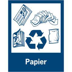 Borden en stickers voor afvalscheiding - Papier
