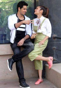 Sidharth Malhotra and Alia Bhatt at a #KapoorAndSons promo event. #Bollywood #Fashion #Style #Beauty #Sexy #Cute