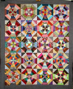 love scrappy quilts---T-Circles of Scrap Love by Linda Rotz Miller Quilts & Quilt Tops, via Flickr