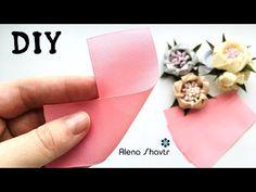Ribbon Flower Tutorial, Hair Bow Tutorial, Doll Tutorial, Ribbon Art, Diy Hair Bows, Diy Hairstyles, Fabric Flowers, Hair Accessories, Satin Ribbon Roses