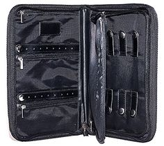 Jewelry Travel Organizer Case Zips for Security Keep Woman's Jewelry Accessories Safe for Travel with This Jewelry Organizer Four Zippered Areas Ring and Earrings Storage (Black) BBD http://smile.amazon.com/dp/B015QHK3C6/ref=cm_sw_r_pi_dp_GcfLwb0MG9BPJ