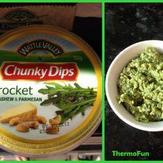Rocket, Cashew  Parmesan Chunky Dip - Thermomix