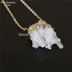 Find More Chain Necklaces Information about White Freeform Quartz Geode Stone necklace,Natural Druzy Drusy Gem Stone Pendant Necklace,High Quality necklace wolf,China pendant platinum Suppliers, Cheap necklace stone from -LINKS on Aliexpress.com
