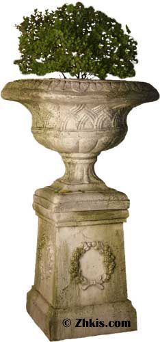 Weaved Classical Planter Urn