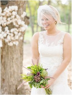 Bridal Gown by Blush Bridal Salon; Floral by Disch Events; Wreath by Vintique Rentals; Photos by http://juliewilhite.com