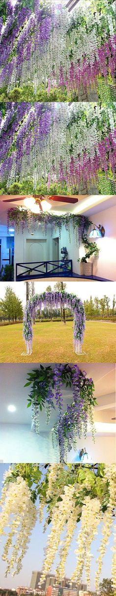 6ft Tall Artificial Red Blossom Approx Replica Indoor Outdoor Office Topiary Tree Plant Flowering Japanese Wisteria Tree