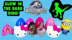 Surprise Egg Kinder Jurassic World and Minnie Mouse Eggs videos for children ToyBoxMagic - We are opening a whole bunch of cool surprise eggs including 2 Kinder chocolate surprise eggs that are Jurassic World and Minnie Mouse. We even get a Glow In The Dark Jurassic World Dinosaur! The other surprise eggs we have are minions, hello kitty, and disney princess. A fun surprise toy video for kids! Enjoy!