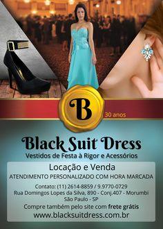 #vestidodefesta #festa #casamento #formatura #baile #modafesta #moda #trajearigor Black Suit Dress, Black Suits, Traje A Rigor, Dress Vestidos, Dresses, Party Fashion, Party Dress, Vestidos, Black Outfits
