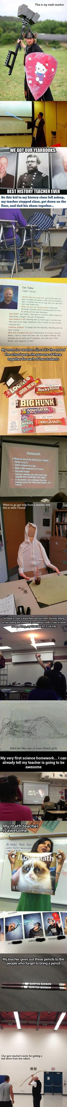 Here are some awesome and geeky teachers that are doing it right.