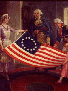 the american flag in 1776