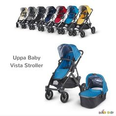 The Vista stroller's intuitive design folds easily and adapts as your family grows in a variety of new configurations. Use it as a single stroller... or add twins and toddlers! It can comfortably hold 2 infant car seats, 2 bassinets, or 2 toddler seats. (Transport up to three children easily by adding a PiggyBack Ride-Along board.)