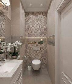 55 Fresh Small Master Bathroom Remodel Ideas And Design - - Kochen - Badezimmer ideen Small Toilet Room, Guest Toilet, Downstairs Toilet, Toilet Wall, Bathroom Design Small, Bathroom Interior Design, Modern Bathroom, Small Bathroom Colors, Bathroom Black