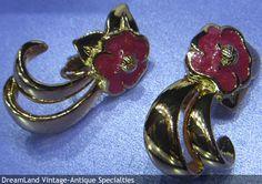 Avon - Tropical Splendor clip earrings with original box   - MAKE $ OFFER DreamLandSpecialties@comcast.net