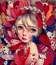 Just love this colorful beautiful painting by Raul Guerra