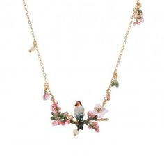 Find More Pendant Necklaces Information about 2016 Luxury romantic elegant fashion necklaces Les nereides goldfinch  cherry flowers pink flower women's simple necklaces,High Quality necklace h,China necklace titanium Suppliers, Cheap necklace wire from Mak fashion jewelry store on Aliexpress.com