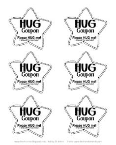 A Year's Worth of HUGS freebie!