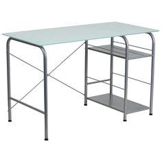 Open Storage Glass Desk NAN-WK-086-GG