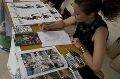 Paola Ramella al lavoro a Kcomixfest 2011!