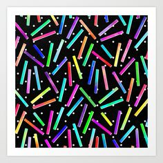 Eighties Party Art Print by Noonday Design | Society6